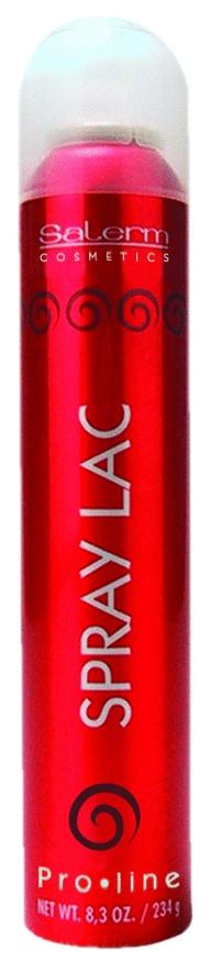 SPRAY LAC SALERM- COMERCIAL JUCAR SL      SPRAY LAC,  es una laca de secado rápido que permite repeinar, aporta brillo y naturalidad al cabello.