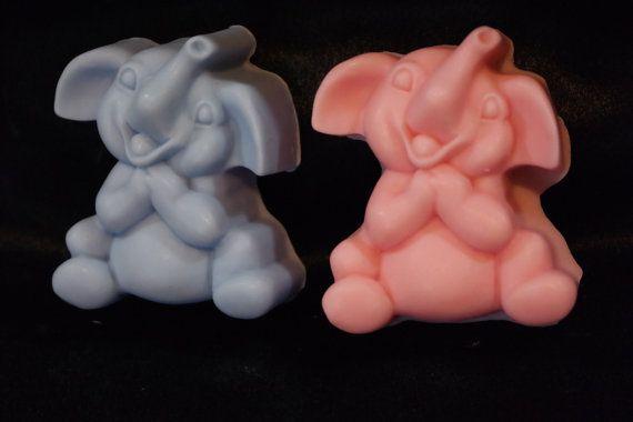 baby elephant soap  2   animal soaps  by AlaskaMomSoapBalm on Etsy Ü #handmadesoap#soap