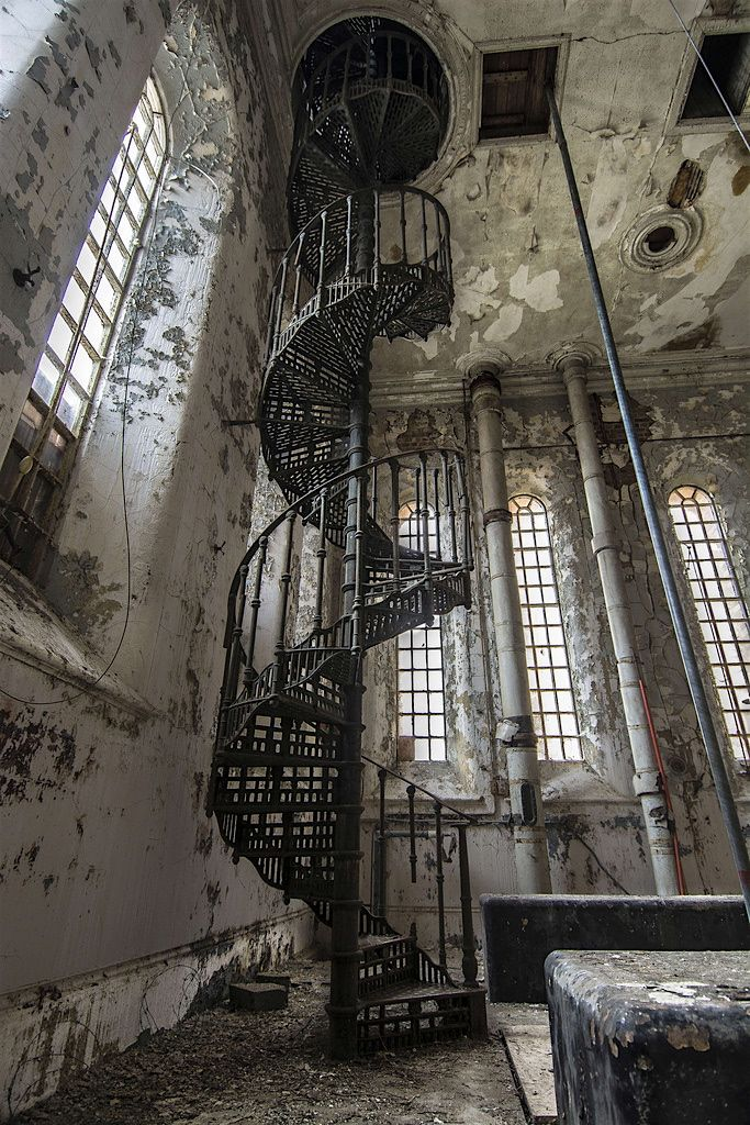 Abandoned . . .love the staircase