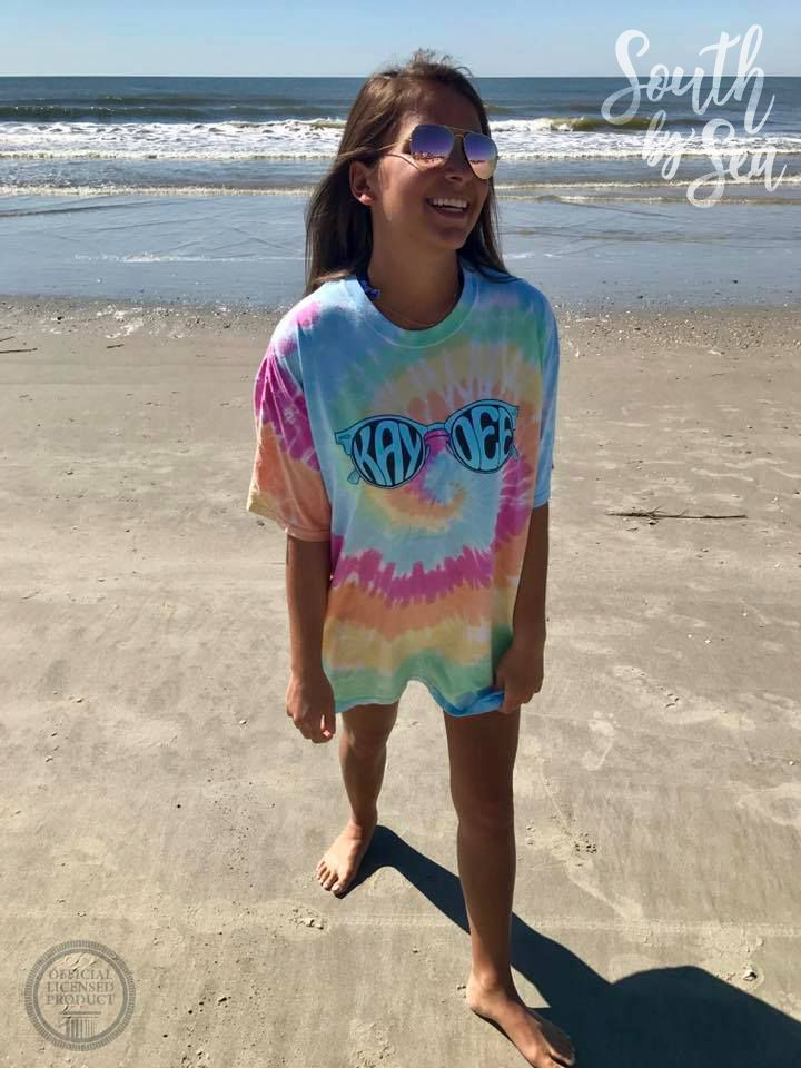 Kappa Delta | KD | Tie Dye | Beach Life | Sunglasses | Sorority Fall Fashion | Sorority Accessories | South by Sea | Greek Tee Shirts | Greek Tank Tops | Custom Apparel Design | Custom Greek Apparel | Sorority Tee Shirts | Sorority Tanks | Sorority Shirt Designs