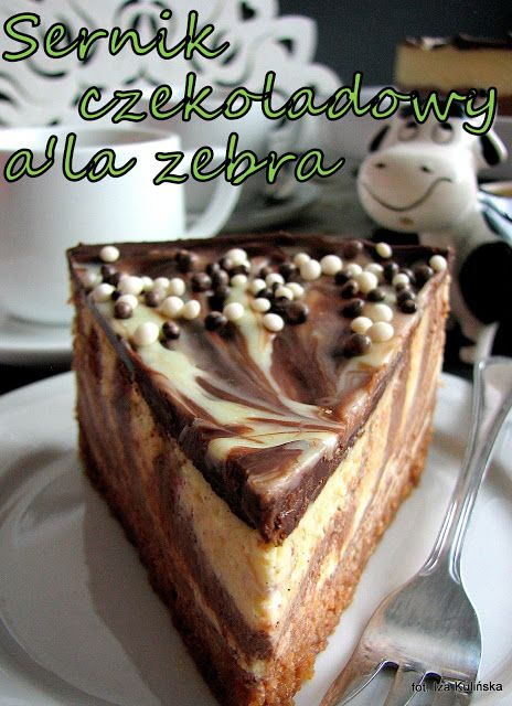 Smaczna Pyza: Sernik czekoladowy a'la zebra