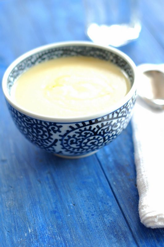 Creamy Roasted Garlic & Potato Soup is rich, and velvety smooth with a deep, nutty, sweetness. Recipe and photos by Eve Fox, the Garden of Eating, copyright 2015