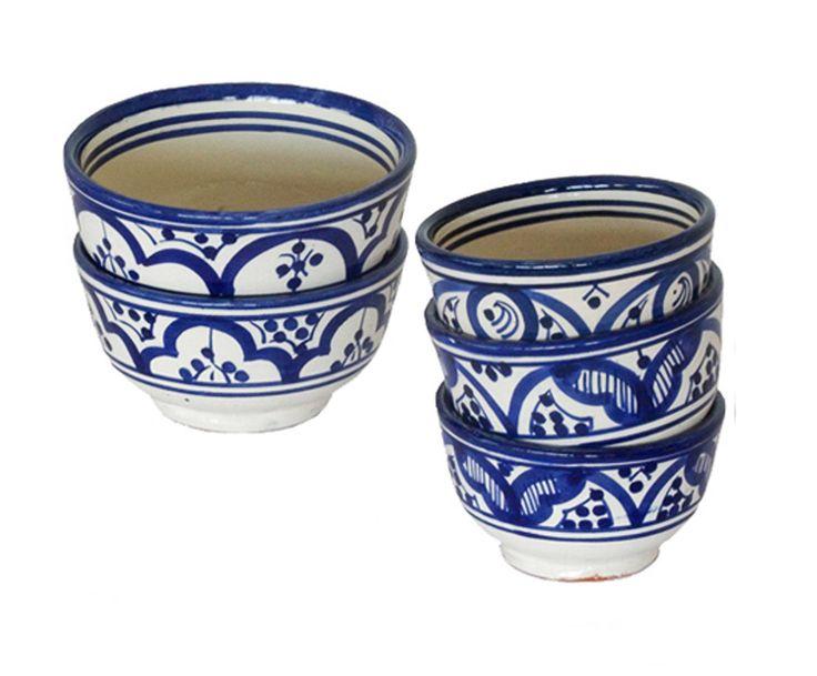 Set van 6 keramische schalen AISHYA, diameter 13 cm   Dalani Home & Living