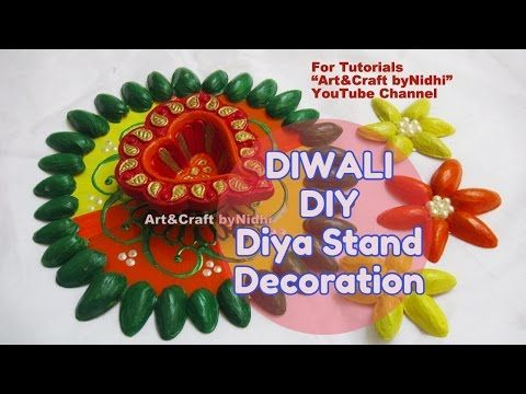 """YouTube recycled home decoration ideas for kids. Candle diya stand making from waste CD and pista. Diwali Christmas special decoration. Search """"Nidhi's MehndiART"""" YouTube channel for all kind of mehndi henna design tutorial. #fashion #jewellery #trend #bridal #bride #wedding #marriage #festival #tradition #beautiful #girl #london #paris #canada #us #india #surat #ahmedabad #uk #arabic #floral #gulf #dubai #henna #mehndi #mehandi #art #drawing #tattoo #design"""