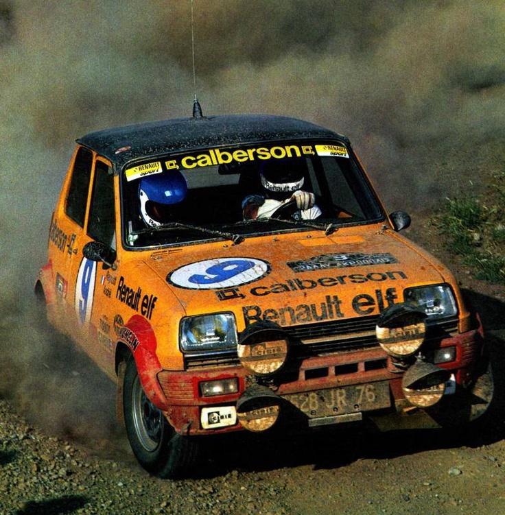 ra Jean Ragnotti - Jean-Marc Andrie-Renault 5 Alpine Gr. 2-Rally Acropolis 1979