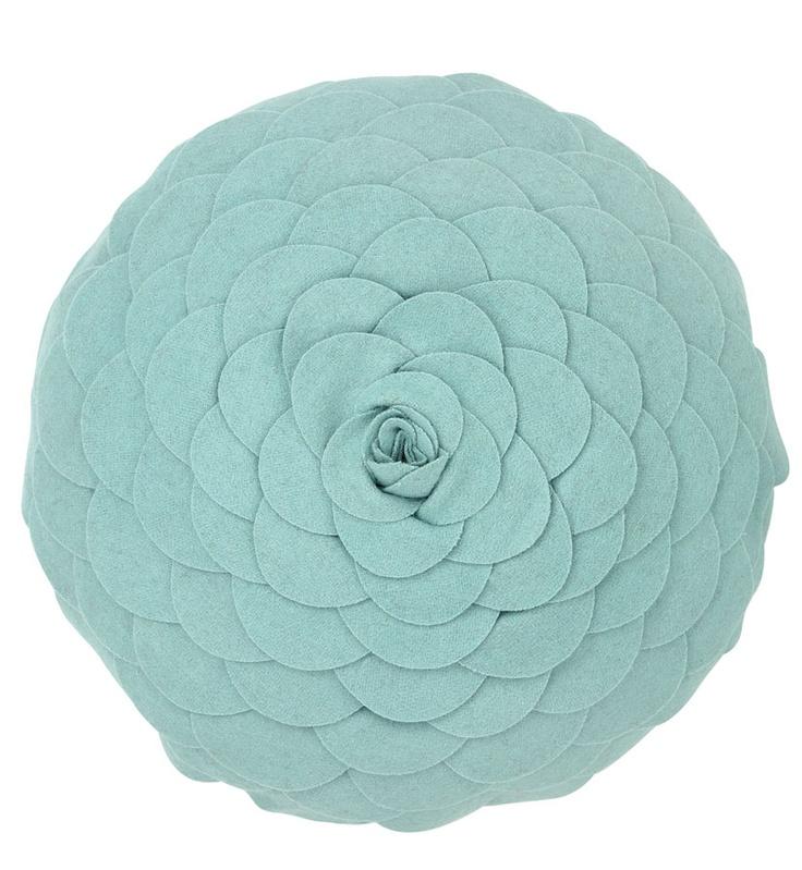 Laura Ashley duck egg blue rosette pillow. $99.00