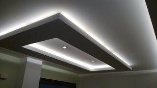 Como hacer molduras de madera para techo pladur youtube - Luz indirecta ...