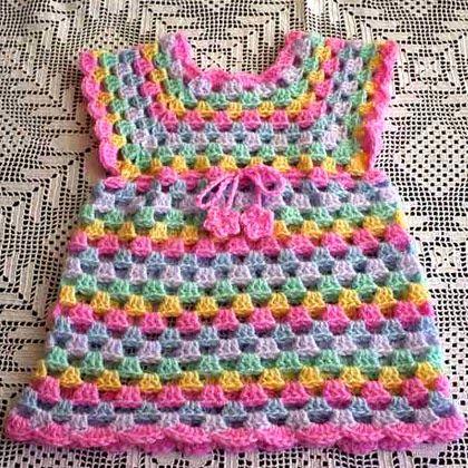 Crochet For Children: Sweet Little Granny Tunic Dress Free Crochet Patte...