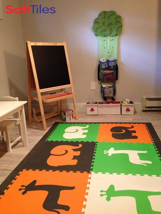 Create A Designer Playroom Floor For Kids With SoftTiles Safari Animals Foam  Mats. #foamtiles