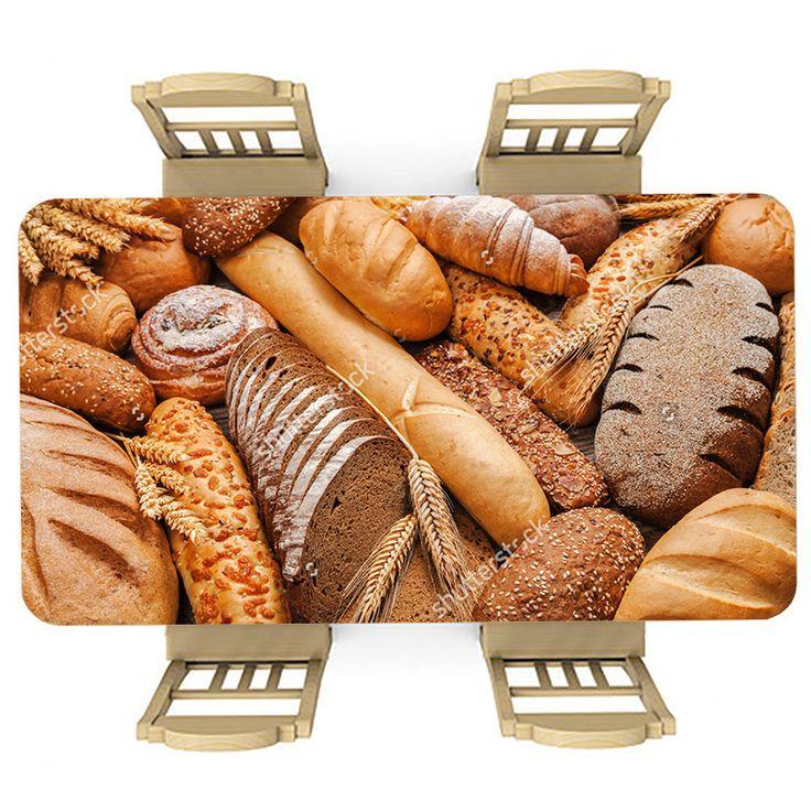 Tafelsticker Brood | Maak je tafel persoonlijk met een fraaie sticker. De stickers zijn zowel mat als glanzend verkrijgbaar. Geschikt voor binnen EN buiten! #tafel #sticker #tafelsticker #uniek #persoonlijk #interieur #huisdecoratie #diy #persoonlijk #brood #broden #bakker #keuken #voedsel #eten #stokbrood