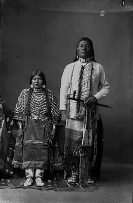 Susie Gibson and her husband, Tom Gibson - Shoshone - before 1919