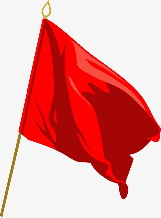 Vector Painted Red Red Flag Vector Red