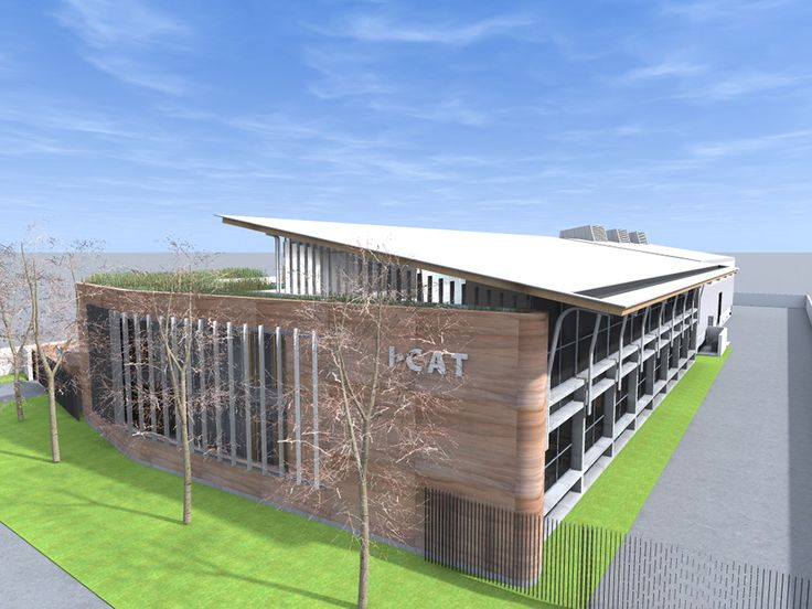 New offices & warehouse for environmental management company I-Cat focusing on sustainability on all levels, including economical, social & environmental. I-Cat Eco-Factory - Earthworld - Sustainable Architecture