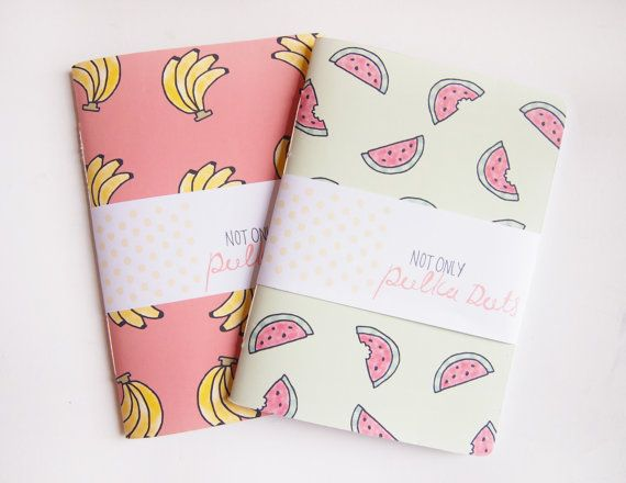Small Blank Notebooks // Fruity // Tropical by notonlypolkadots, £3.50