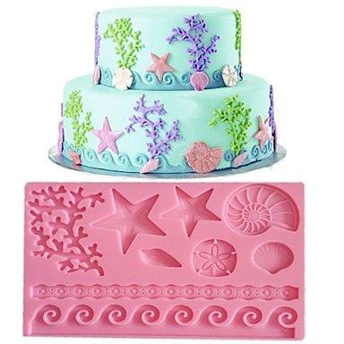 Lace+Fondant+Mold +Cake+Decoration+ Mold+Random+Color+FM-09+–+USD+$+6.79