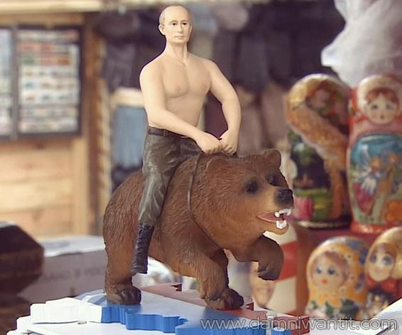 We all remember that viral meme of Putin riding on a bear, right? Well, some folks went further and transformed that idea into a live action figure. I mean, why the hell not… it's genius. Action figures are all about bad-ass mofos doing super-hero shit… And what's next best thing after Chuck Norris? That's right, it's fuckin' Putin. If you know someone who's a Putin enthusiast, or is in the military business, then this action figure is the  ..
