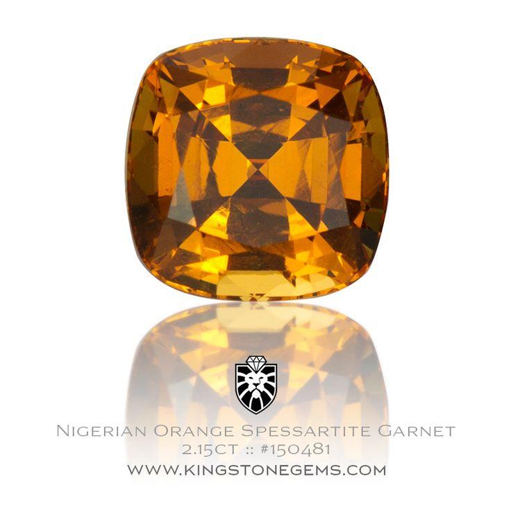 Orange Spessartite Garnet - 2.15ct - 6.7X6.7X5.0mm - SKU# 150481 - Stunning orange spessartite garnets are available from our large collection of gemstones.