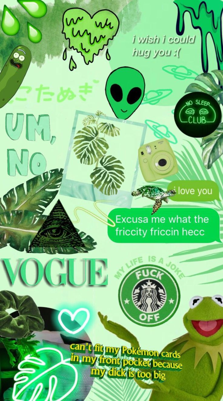 Green Aesthetic Background Quotes