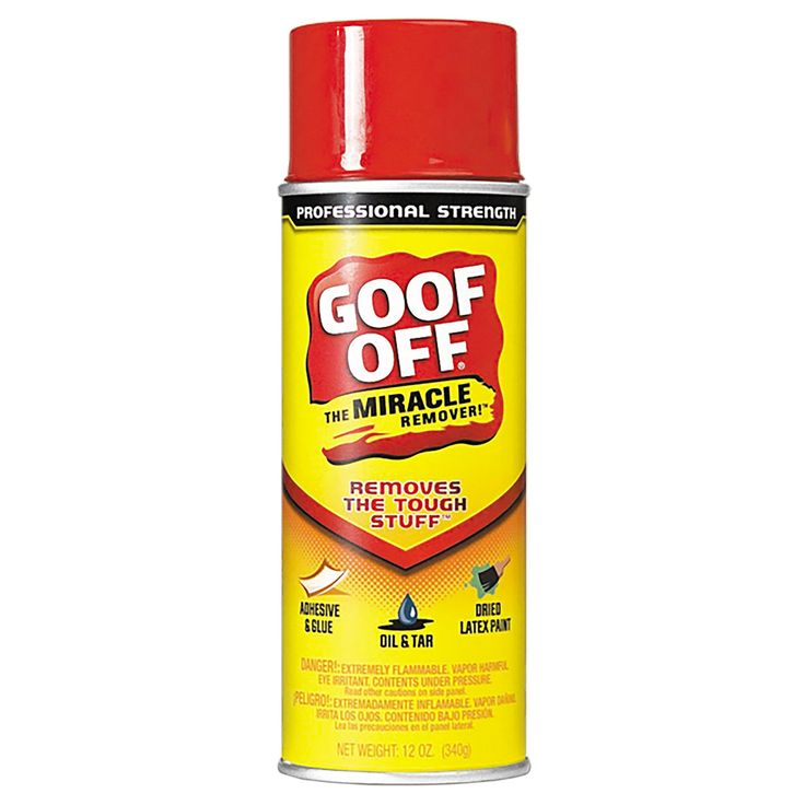 Goof off 12 oz spray in 2020 how to remove adhesive