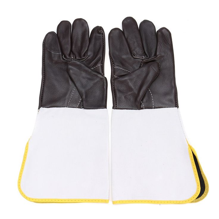 Safurance Anti-CuttingExtended Wearable Welding Gloves Industrial Leather Protective Glove Workplace Safety Fire Retardant #Affiliate
