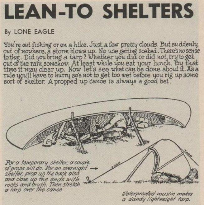 Paddle Making (and other canoe stuff): Canoe Camp Shelters