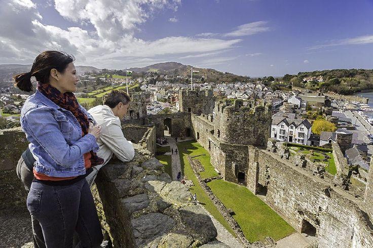 Cote Nord de la Wales Coastal Path, château, Pays de Galles Visit Wales