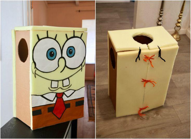 spongebob kostüm karton diy idee fasching #costume #fasching #carnival