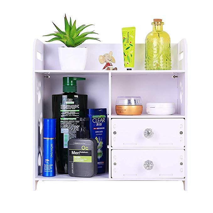 Honean Beauty Makeup Organizer With Drawers Wood Plastic Cosmetic
