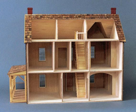 Scale One Inch The Retreat Log Cabin Dollhouse Kit 1 12 Scale Made In Usa Treasury List Dollhouse Kits Cabin Dollhouse Doll House