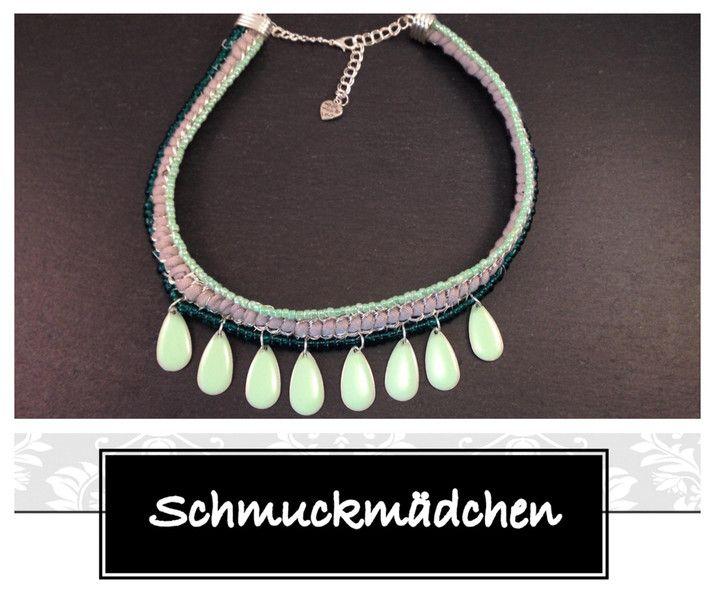 Statement Kette Silber Grün von Schmuckmädchen auf DaWanda.com