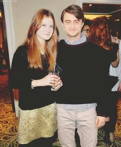 Bonnie Wright and Daniel Radcliff.