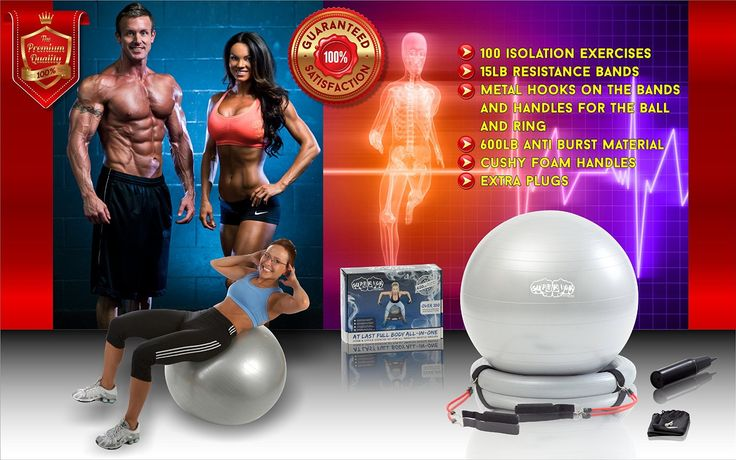 Amazon.com : Superior Fitness 600 lb Exercise / Yoga / Stability Ball With Heavy Duty Gym Quality Resistance Bands & Pump - Improves Balance, Core Strength, Back Pain & Posture - For Men & Women : Sports & Outdoors