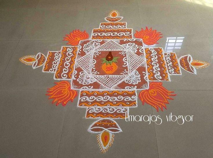 Easy Kolam Rangoli Designs for Diwali