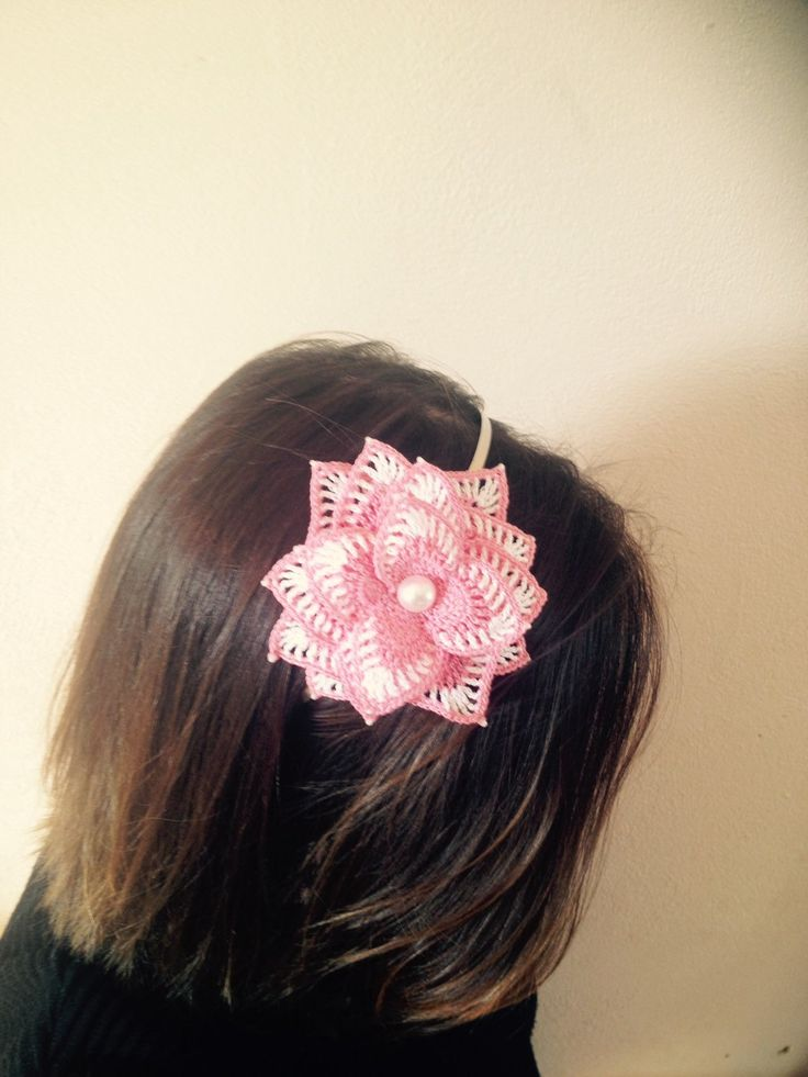 A personal favorite from my Etsy shop https://www.etsy.com/listing/228766832/pretty-pink-crochet-flower-hairband