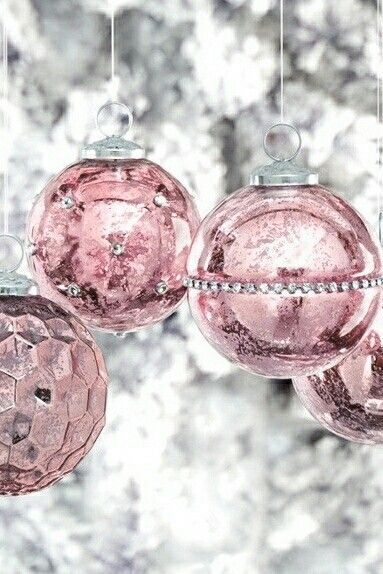 pink Christmas ornaments