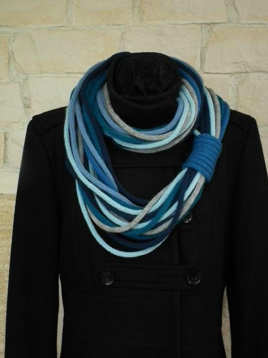 écharpe tricotin