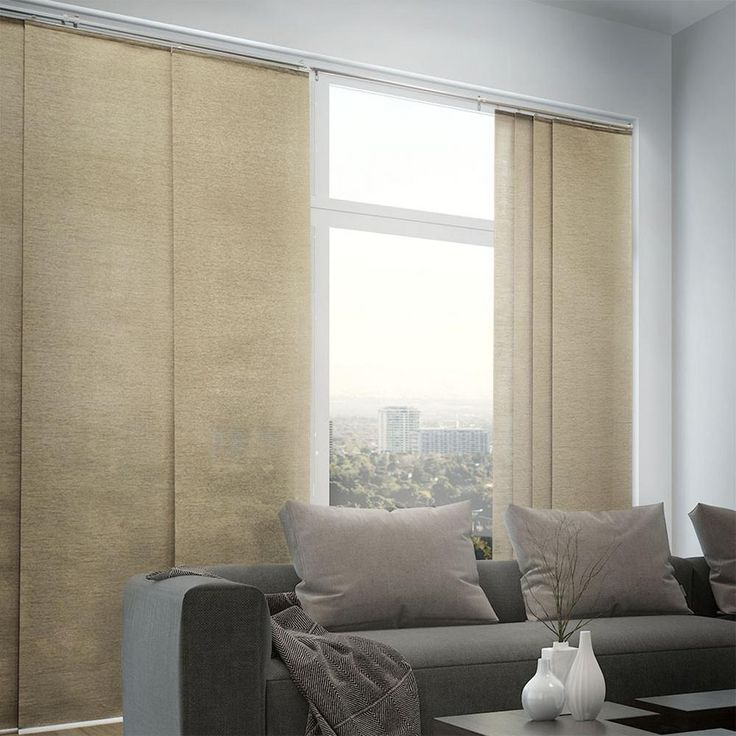 Chicology panel track blinds provence maple cordless light