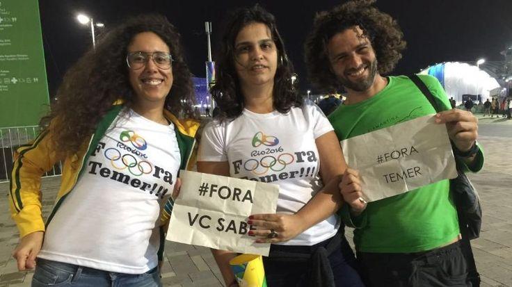 """""""Fora Temer"""" e """"fora PT"""" dividem arenas na Rio-2016 depois de liberação"""