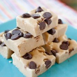 Chocolate Chip Cookie Dough Fudge.: Cookie Dough Fudge, Cookies Dough Fudge, Chocolate Chips, Fun Recipe, Chocolates Chips Cookies, Doughfudg, Chocolate Chip Cookie, Savory Recipe, Cookiedough