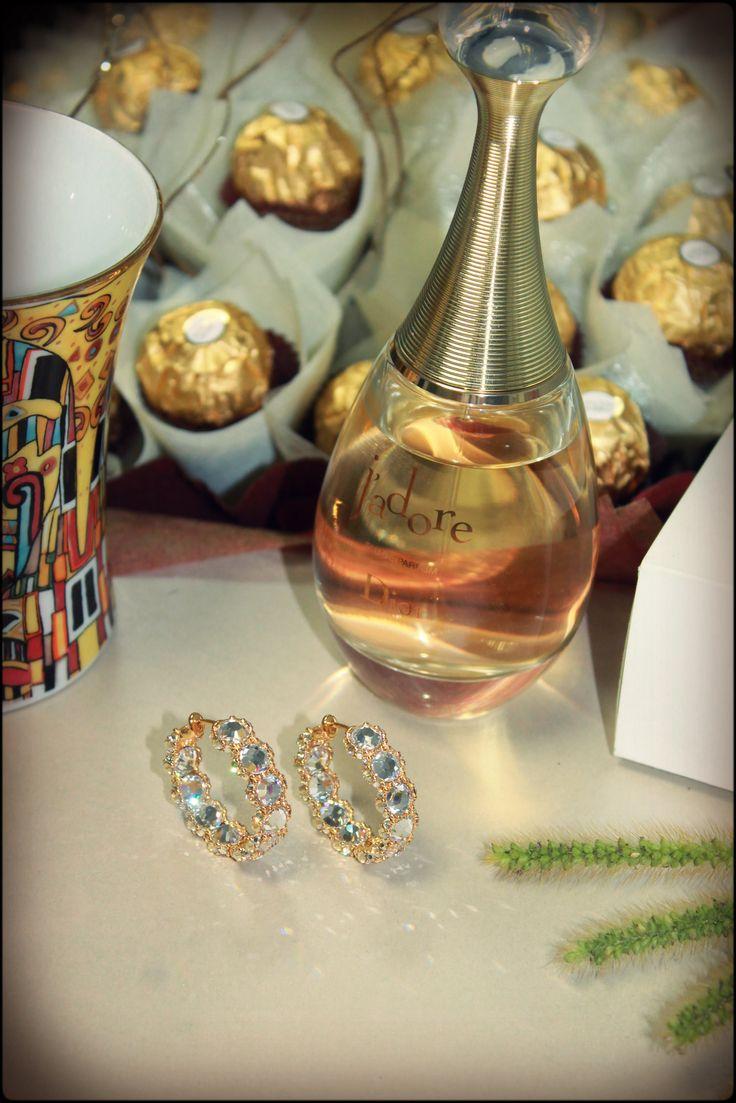 #Rosebrinelli #RB #blue #earrings #jewelry #Dior #Jadore