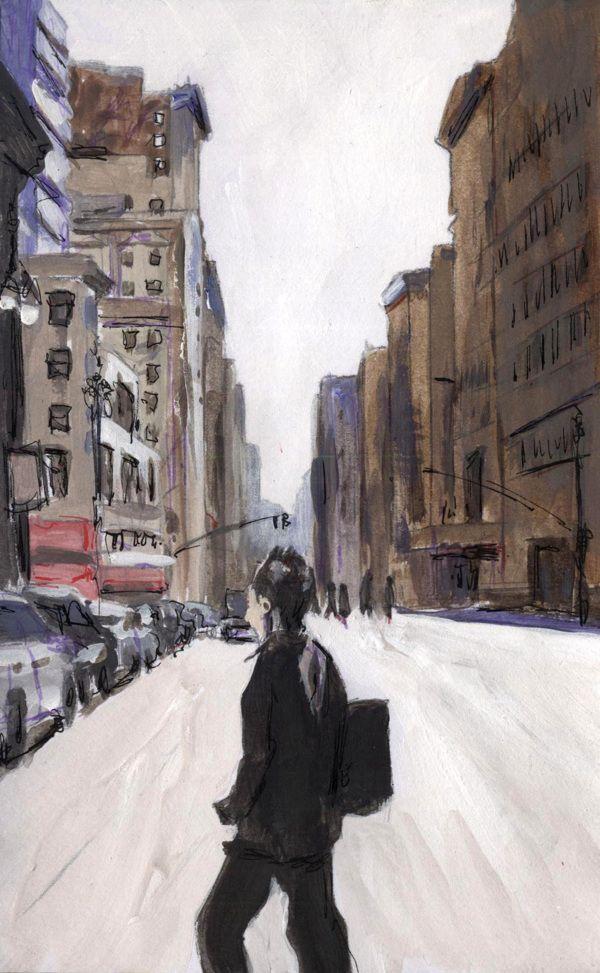 New York postcards by Billy Almond, via Behance