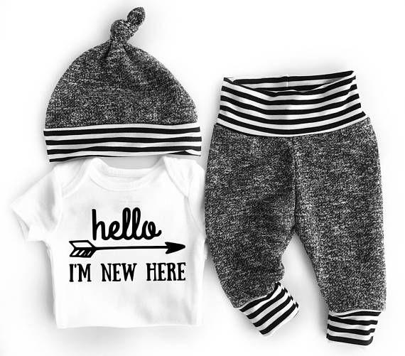 Pantalon de survêtement bébé jogging bébé garçon nouveau-né tenue garçon garçon va tenue à la maison hôpital costume garçon   – Lu