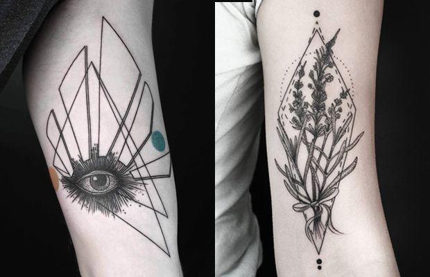 Inspirado pela natureza e formas geométricas, Okan Uckun cria tatuagens minimalistas extremamente meticulosas - Follow the Colours