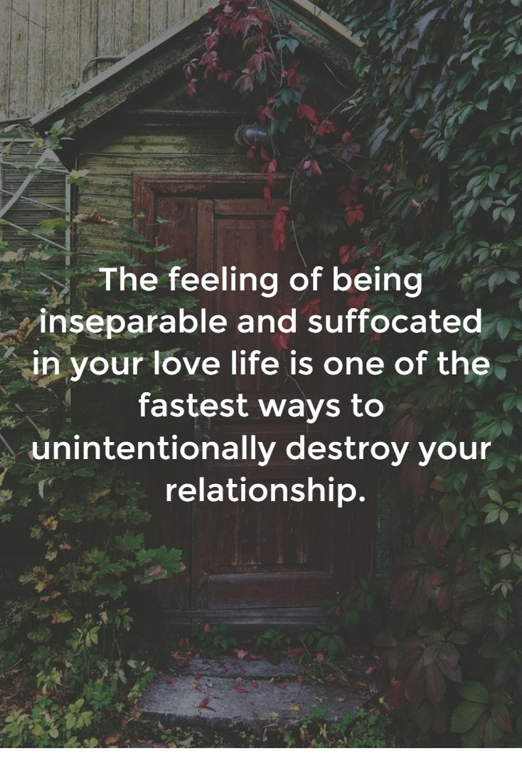 feeling suffocated relationship