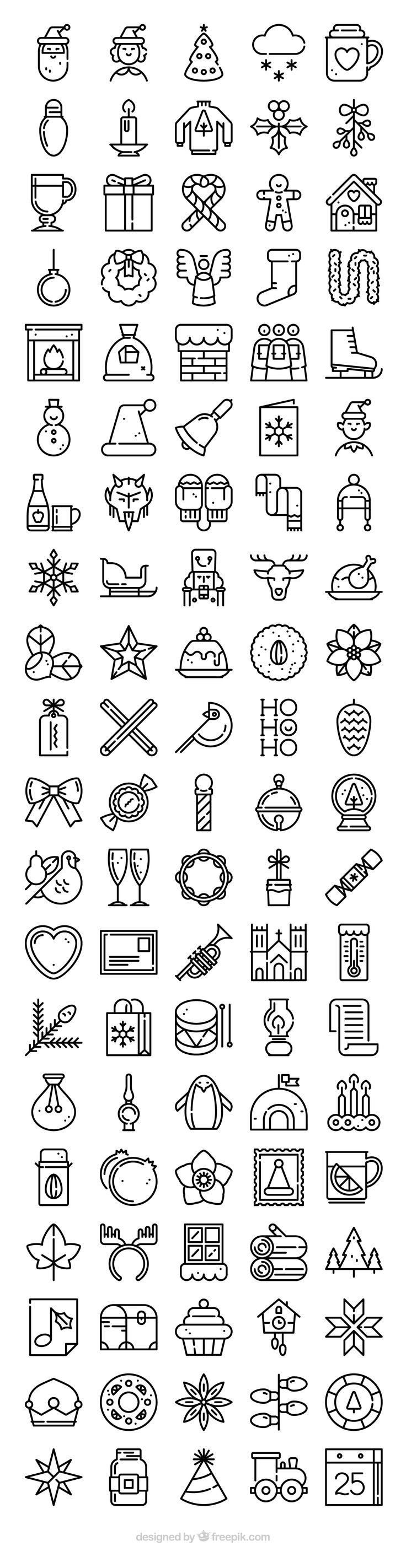 100 FREE Christmas icons! Flaticon.