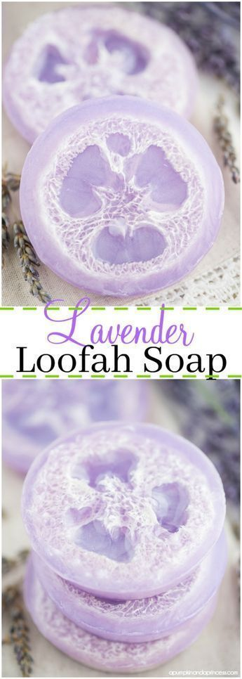 DIY loofah soap – how to make exfoliating loofah soap with lavender essential oil. #howtomakeweddingcandles #soapmaking