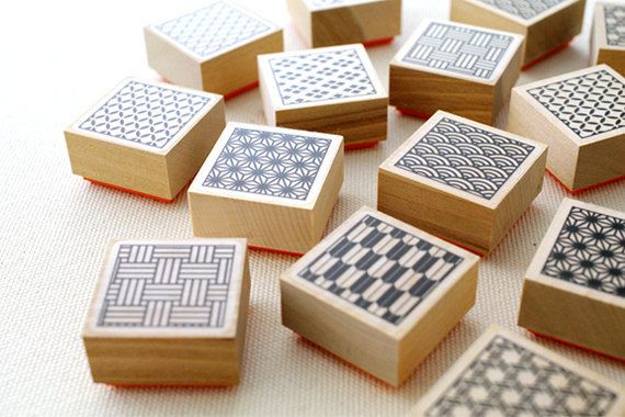 CLEARANCE SALE Rubber stamp of a traditional Japanese design