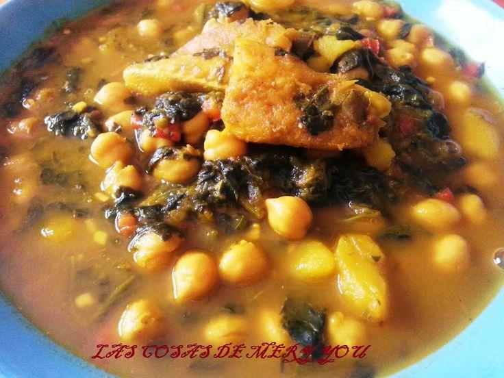 17 best images about garbanzos on pinterest spinach - Potaje de garbanzos con bacalao ...