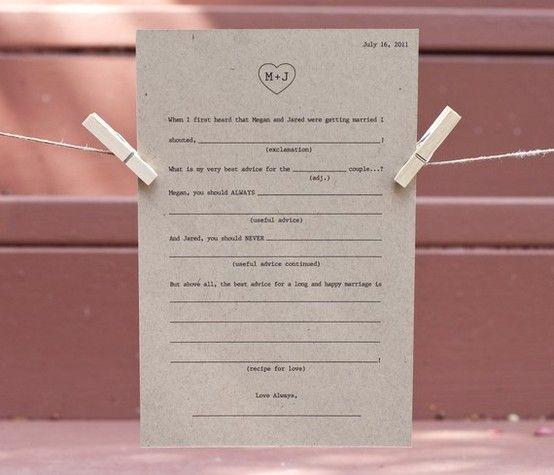 Wedding guest book idea :)