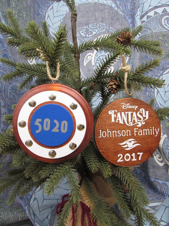 Christmas Cruises 2019.Cruise Ornament Personalized Stateroom Porthole Fish